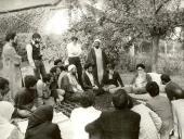 Imam Khomeini while in Neauphle-le-Château