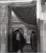 Imam Khomeini at holy shrine of Imam Ali (PBUH)