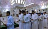 A group of students from Najaf seminary pay tribute to Imam Khomeini