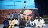 Nigerian Shia Muslims visiting Imam Khomeini`s historic house in Jamaran