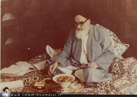 Imam Khomeini in holy city of Najaf