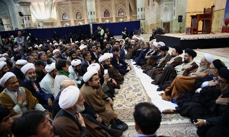 Spiritual ceremony held at Imam Khomeini's mausoleum on eve of Nowruz