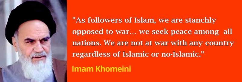 As followers of Islam, we are stanchly opposed to war.
