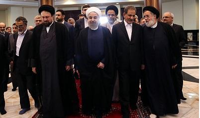 President Rouhani, cabinet member pledge allegiance to Imam Khomeini`s ideals