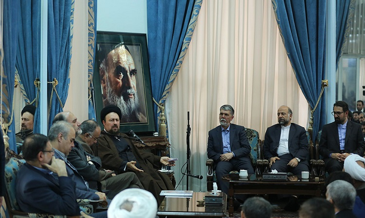 Artists and culture figures meet Seyyed Hassan Khomeini