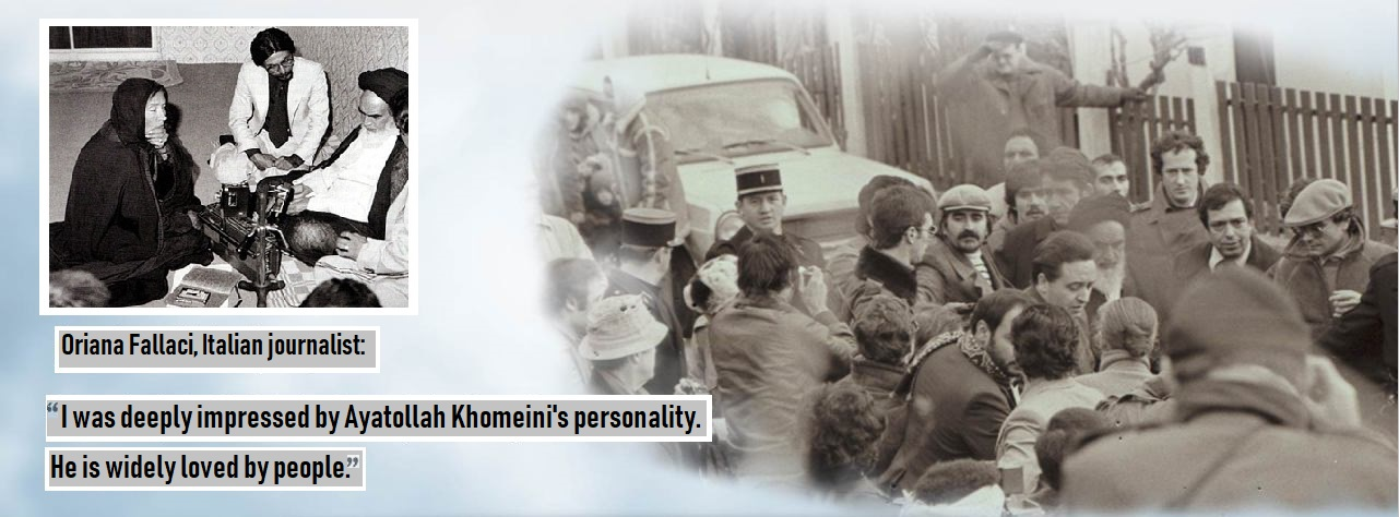 Imam Khomeini and foreign journalists