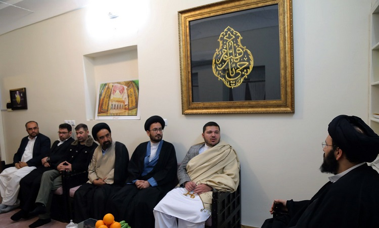 Major advisor to Afghanistan's Security Council meets Seyyed Ali Khomeini at Imam's historic residence in Qom