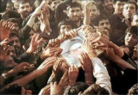 Bidding farewell of Imam Khomeini towards eternal resting place
