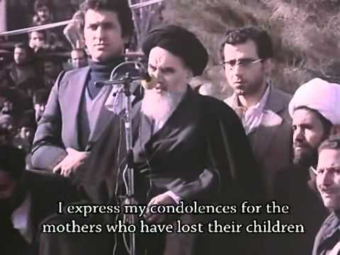 Imam Khomeini`s first speech after arrival from Exile in February 1979