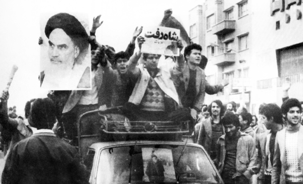 Revolution under Imam Khomeini leadership gained momentum, Shah fled Iran