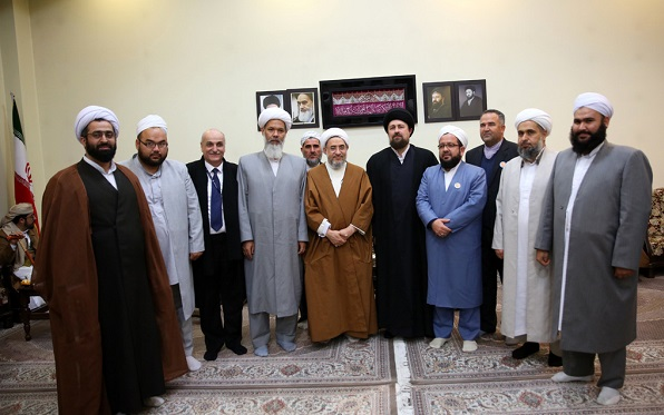Foreign guests meet Seyyed Hassan Khomeini, the grandson of the late founder of the Islamic Republic. They also pledged allegiance to Imam Khomeini by paying a pilgrimage to his holy shrine.
