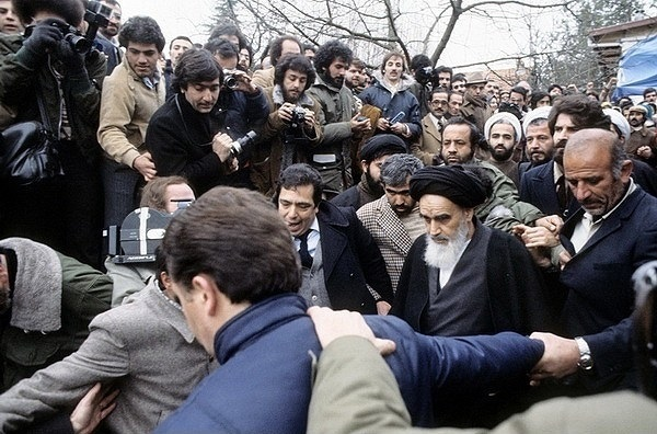 Imam Khomeini in an interview with foreign reporters