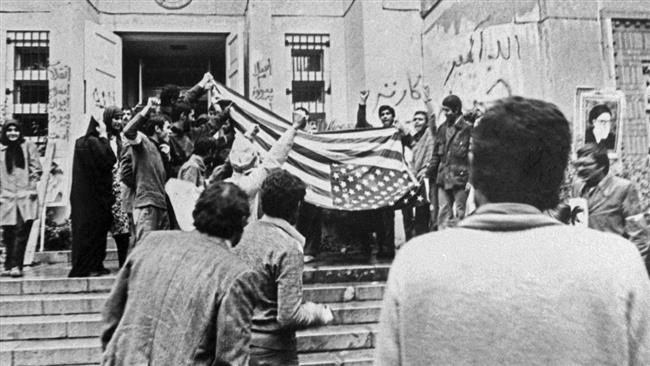 "Imam Khomeini hailed the US ""den of spies"" takeover as a ""second revolution"""