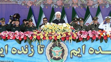President Rouhani says Iran's military might is deterrent