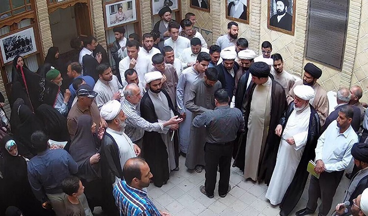Iranian and foreign pilgrims visit Khomeini's historic residence in holy city of Najaf