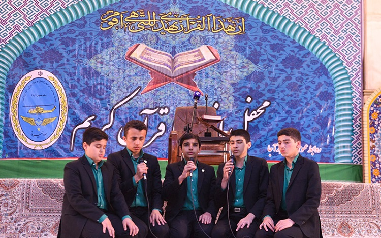 A devotional Quranic session at Imam Khomeini's shrine