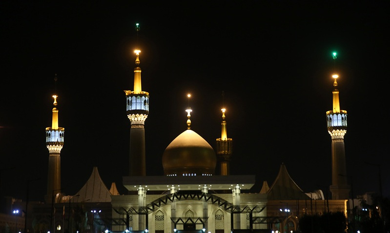 A mourning ceremony to mark anniversary of Hadrat Zainab (PBUH)'s passing at Imam Khomeini's shrine