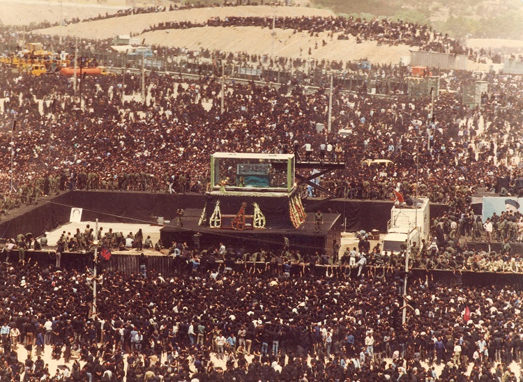 Over 10 million people attended Imam Khomeini's funeral