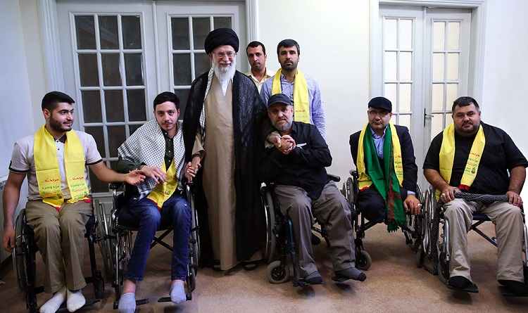 Supreme Leader receives Lebanese Hezbollah's disabled war veteran