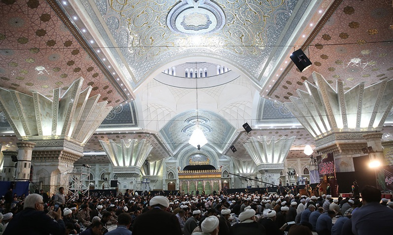 A ceremony at Imam Khomeini shrine on night of Destiny in blessed month of Ramadan