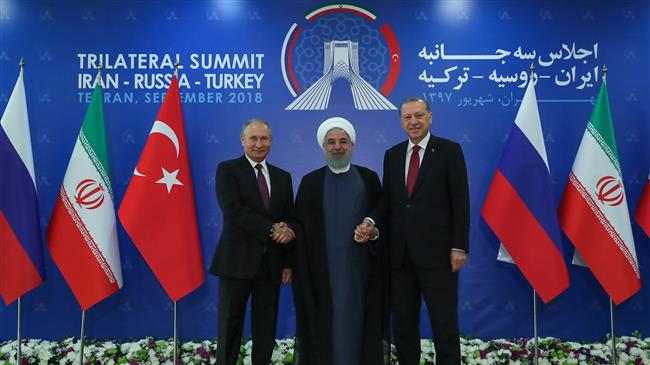 At Tehran summit, President Rouhani calls for US pullout from Syria