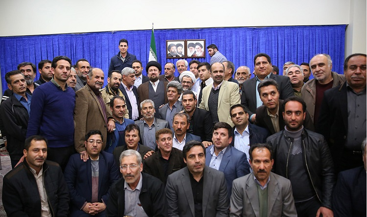 Authorities from Aftab city meet Seyyed Hassan Khomeini
