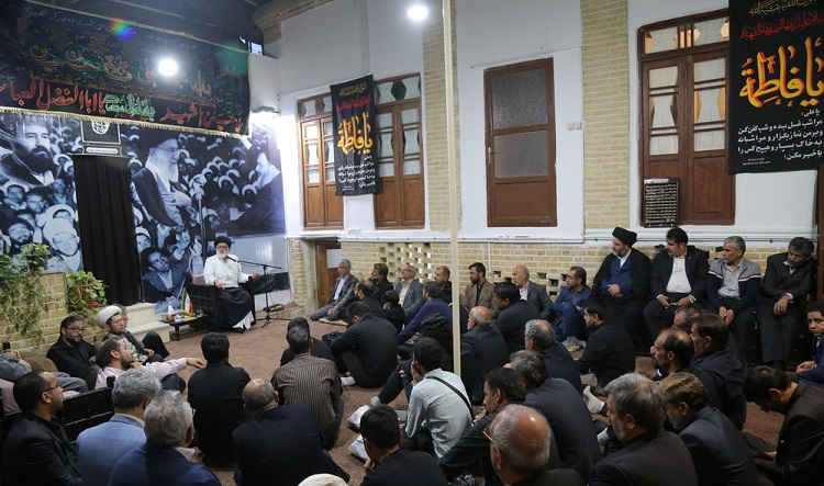 A mourning ceremony to mark anniversary of Imam Kazim (PBUH)'s passing at Imam Khomeini's historic residence in Qom