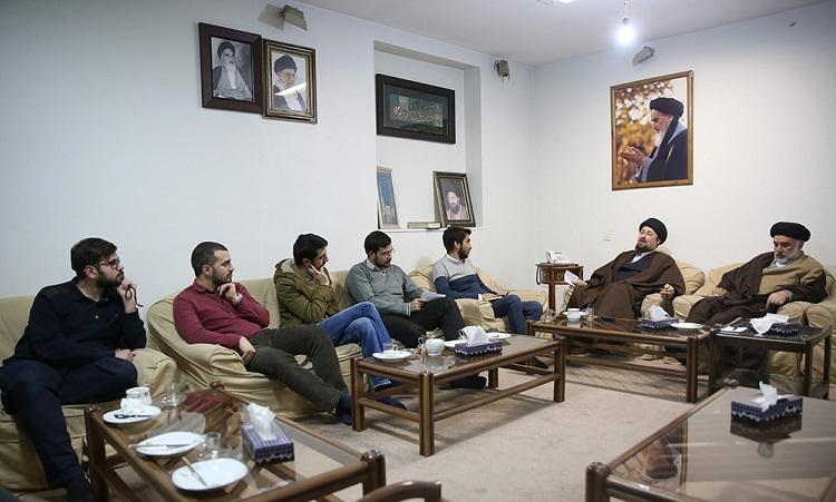 Student union members from various Iranian universities meet Seyyed Hassan Khomeini