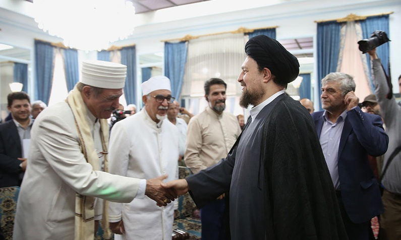 Representatives of some divine religions meet Seyyed Hassan Khomeini