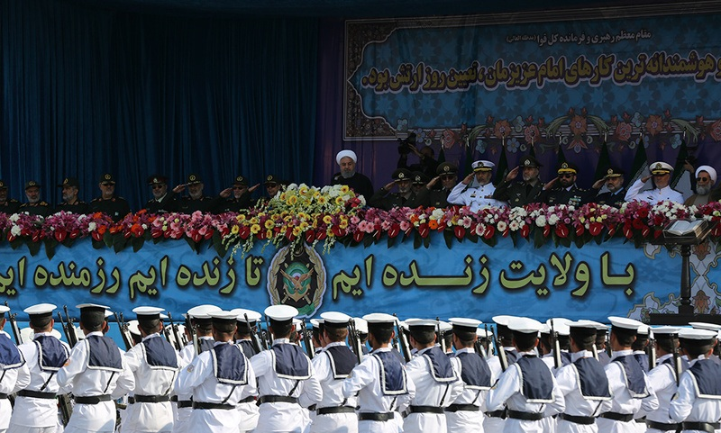 Ceremony close to Imam Khomeini's mausoleum marks national military day