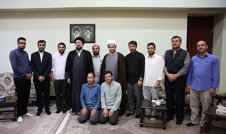 Youth's from Turkey's Islamic proximity organization meet Imam Khomeini's grandson