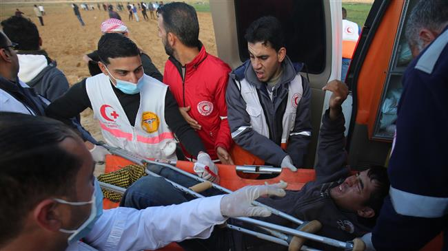 Israeli forces shoot dead 3 Palestinians wound over 100 in Gaza Strip
