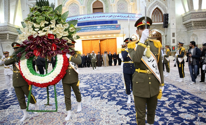 The president along with the government delegation renew allegiance to Imam Khomeini's ideals