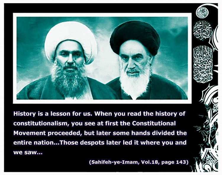 Reasons behind defeat of constitutional movement in Imam Khomeini`s viewpoints