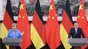 Chancellor Angela Merkel says Germany, China stand by Iran deal