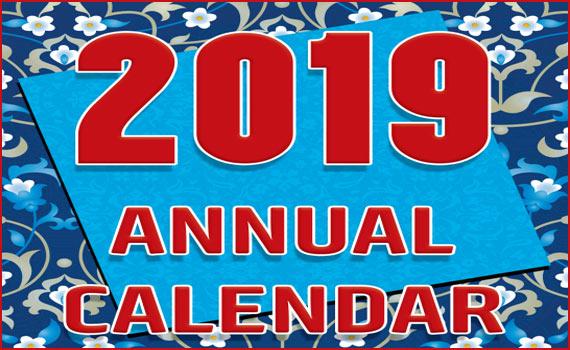 ANNUAL CALENDAR 2019