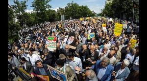 Iranians vent their anger at the US over its withdrawal from  2015 nuclear deal