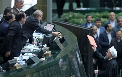 President Rouhani says sanctions target Iran's people,