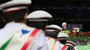 On 39th anniversary of revolution,   President Rouhani addresses massive rally in Tehran