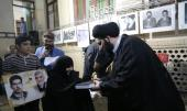 A ceremony honors the families of 15th Khordad's martrys and the protectors of the holy shrine with presence Seyyed Ali Khomeini