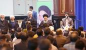 Members of Afghan religious delegations meet Seyyed Hassan Khomeini