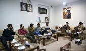 Student union members from various Iranian universities meet Seyyed Hassan Khomeini