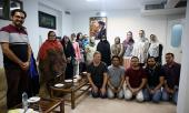 A group of foreign professors and researchers meet Dr. Fatima Tabatabe'i