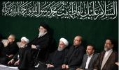 A mourning ceremony in remembrance of Hadrat Fatima (PBUH) with presence of the supreme leader at Imam Khomeini's Hosseiniah