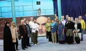 A group of American tourists visit Imam Khomeini's historic residence in Jamaran