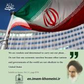 US sanctions in Imam Khomeini`s viewpoints