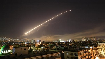 Multiple places in Syria come under attack by US, British and French military forces