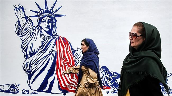 Iran unveils new murals on walls of former US embassy in Tehran