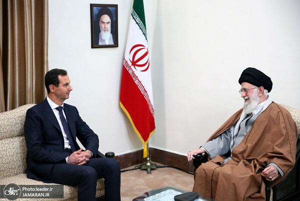 Syrian President Bashar al-Assad meets the leader of Islamic Revolution