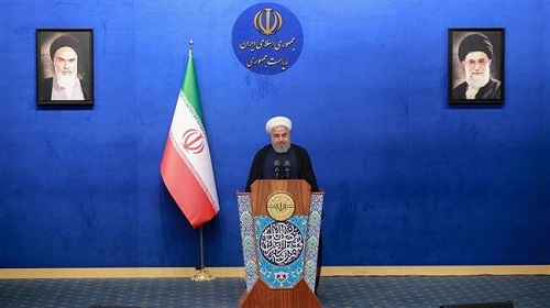 President Rouhani says Iran forced US to back down